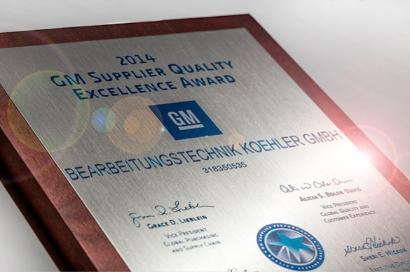 Quality Excellence Award 2014